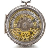 14. johann christoph strigell, kreilsheim   a silver pair cased wandering hour verge watchcirca 1700