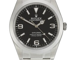4. rolex | explorer gran via 1, 100 anos, grassy, 50 anos, reference 214270limited edition stainless steel wristwatch with bracelet circa 2017