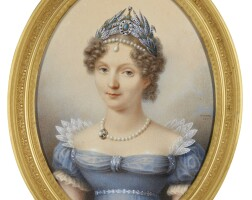 321. henri benner | portrait of elisaveta alexeïvna, empress of russia (1779-1826)