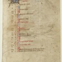 53. calendar, use of sarum, in latin [flanders, 15th century]