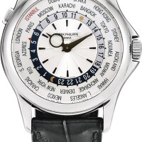 137. patek philippe   reference 5130 a limited edition white gold worldtime wristwatch, made for istanbul, circa 2013