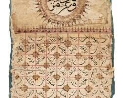 24. an illuminated genealogical scroll, turkey, karakaya, ottoman, dated 838 ah/1434 ad |
