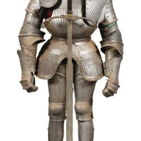 """17. a south german wrought iron """"maximilienne"""" armour, circa 1520-1530 