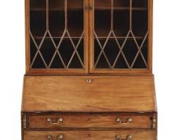 338. a george iii mahogany bureau-bookcase, england, circa 1790 |