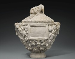 37. a roman marble cinerary vase, 1st century a.d. | a roman marble cinerary vase