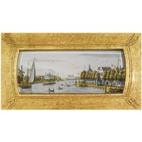 12. jonas zeuner, 1727-1814, a view on the 'omval' at amsterdam late 18th century