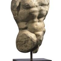 3061. 約公元二世紀 羅馬大理石雕人或薩堤爾半身像