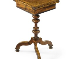 35. a louis xiv walnut, fruitwood and marquetry small table late 17th century, shaft and base later