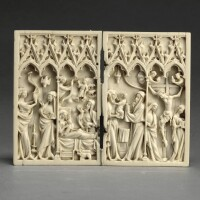 14. frenchor german, second half 14th century | diptych with scenes from the life of christ