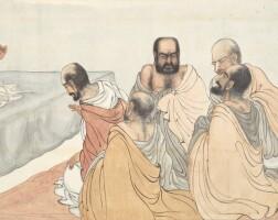 1231. 鄧芬 維摩說法圖 | 設色紙本 鏡框 一九四九年作