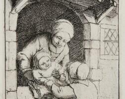 9. adriaen van ostade | mother with two children (godefrey 14)