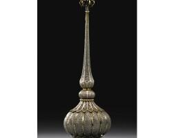 175. a silver filigree rosewater sprinkler, karimnagar, deccan, 18th century