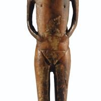 1. figurine anthropomorphe détroit de béring, alaska, etats-unis 1er millénaire avant j.-c.