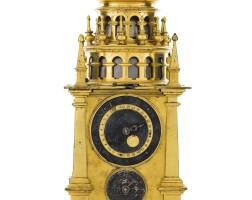 12. 德國製 | 文藝復興時期銅鎏金二問報時「turmchenuhr」座鐘備鬧鐘,年份約1600
