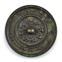 555. a bronze tang-style 'mythical beast' mirror ming dynasty