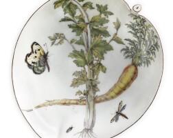 8. a chelsea porcelain 'hans sloane' leaf-shaped dish circa 1755