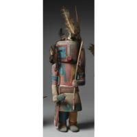 11. a hopi polychrome wood kachina doll, representing malo