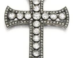 127. diamond cross pendant