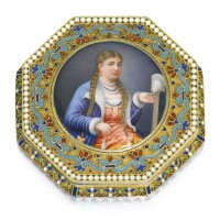 466. a silver-gilt and pictorial enamel box, ivan feodorov andreev, moscow, 1888