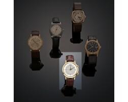 12. an 18 carat gold wristwatch, jaeger lecoultre, memovox ref. no. 982435a, circa 1960