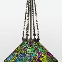 "337. tiffany studios | ""grape"" chandelier"