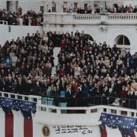 587. bush, george h. w. | color photograph of president bush's inauguration