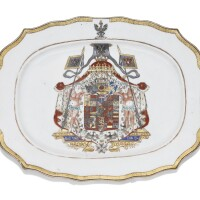 14. a chinese export armorialvegetable dish with the royal coat-of-arms of prussia qing dynasty, circa 1755