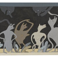 67. gladys nilsson (b. 1940)   terrarium, 1980