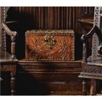 13. a franco-flemish gilt metal mounted kingwood strongbox circa 1700