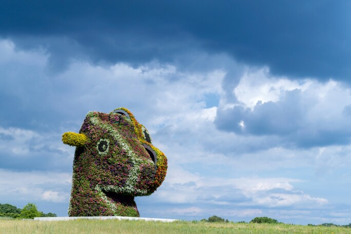 Jeff Koons sculpture at Glenstone Museum