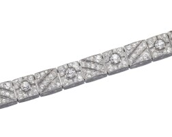 389. diamond bracelet, boucheron, circa 1925