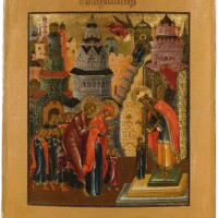 563. entrance of the mother of god into the temple, palekh, late 19th century |