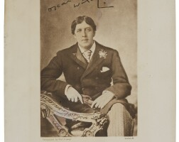 313. wilde, oscar. autograph letter to mrs. beringer, c. 1892–95