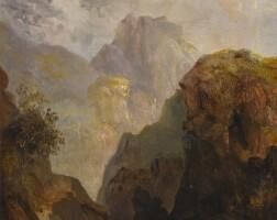 66. 約瑟夫·馬洛德·威廉·泰納 | 《山景,據稱為意大利格里沃拉山》