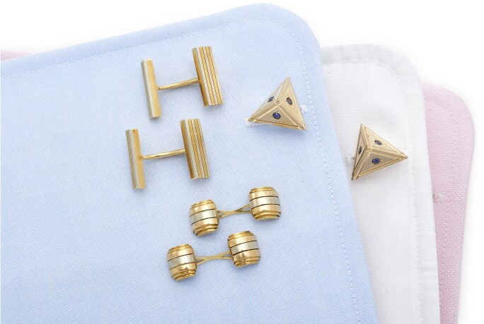Three pairs of Gentleman's cufflinks
