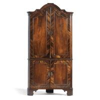 3. a dutch mahogany and rosewood corner cabinet rococo / neoclassical,last quarter18th century