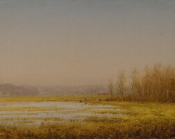44. sanford robinson gifford   marshes on the hudson