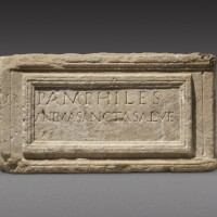 43. a roman marble cinerary urn inscribed for pamphile, 2nd half of the 1st century a.d./2nd century a.d.   a roman marble cinerary urn inscribed for pamphile