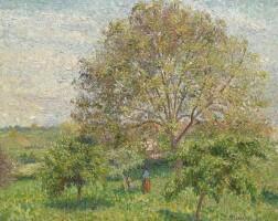 6. 卡米耶・畢沙羅 | 《春天裡的核桃樹,埃拉尼》