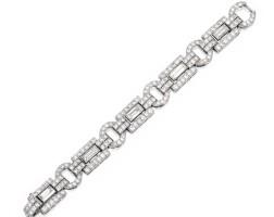 43. platinum and diamond bracelet