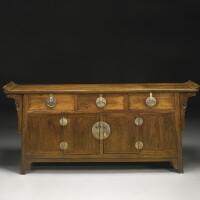 489. a huanghuali three-drawer coffer (liansanchu) qing dynasty