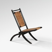 10. attributed to edward william godwin | folding chair