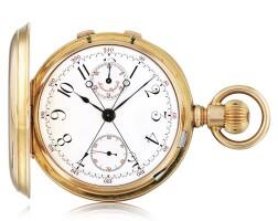 188. 愛彼(audemars piguet) | 粉紅金追針計時懷錶,年份約1888。