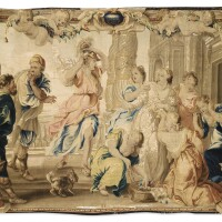 6. tapestry 'achilles and lycomedes' daughters', from the tenture of achilles story, second half 17th century, brussels, after pierre paul rubens, guillaume van leefdael workshop |