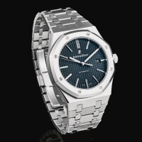 45. audemars piguet | royal oak, reference 15400st a stainless steel bracelet watch with date, circa 2013