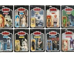 31. ten star wars empire strikes back '41-back' action figures, 1980