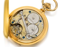 29. a. lange & söhne, glashütte | a very finepinkgold self-winding hunting cased lever watch with up-and-down indicationcirca1895 no. 31505