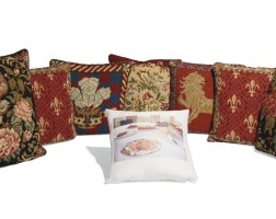 34. a collection of seven needlework cushions, modern