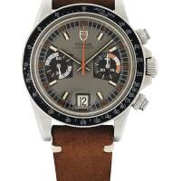 22. 帝舵(tudor)   7159/0型號「homeplate」精鋼計時腕錶備日期顯示,年份約1975。