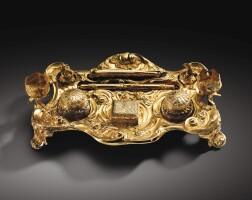 8. écritoire en or, angleterre, londres, vers 1750